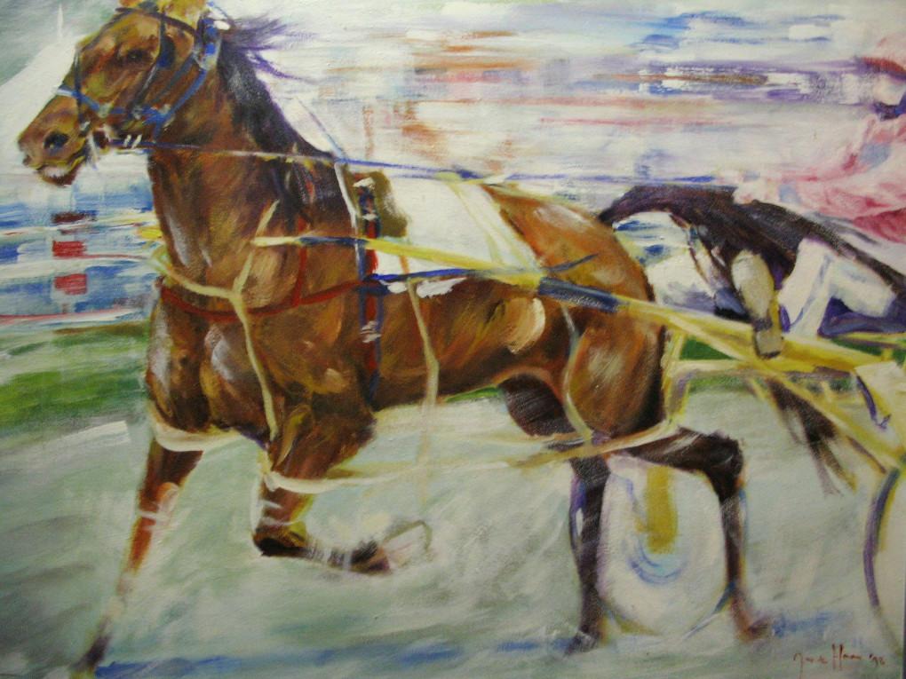 Schilderij - Draver
